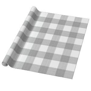 Grey Buffalo Plaid Wrapping Paper