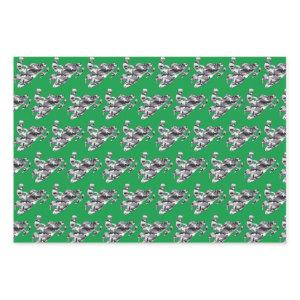 Grey Camouflage Snowmobiler Wrapping Paper Sheets
