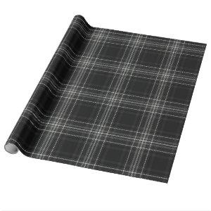 Grey Flannel Lumberjack Plaid Classic Wrapping Paper