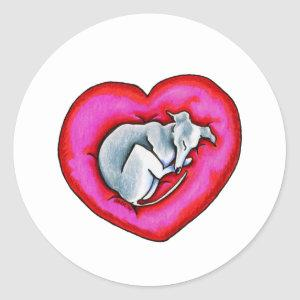 Grey Snuggle Bug Classic Round Sticker