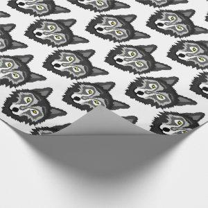 Grey Wolf Wrapping Paper