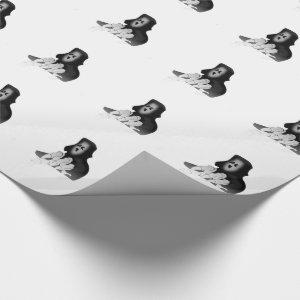 Grim Reaper Death Gift Wrapping Paper