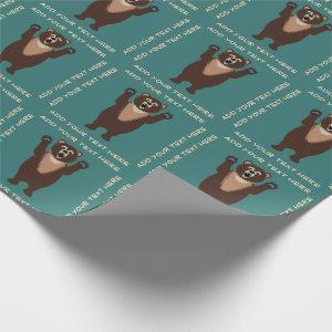 Grizzly Bear Funny Wrapping Paper