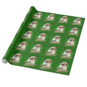 Grumpy Cat Happy Holidays Wrapping Paper