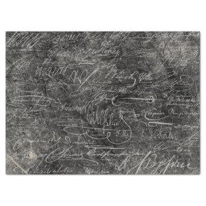 GRUNGE BLACKBOARD OF FAMOUS RULERS AUTOGRAPHS TISSUE PAPER
