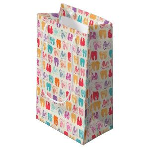 Grunge Tooth Pattern Small Gift Bag