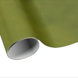 Grungy Styled Smudge Dark Green Wrapping Paper