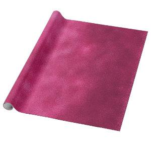 Grungy Styled Smudge Hot Pink Wrapping Paper