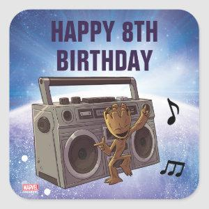 Guardians of the Galaxy - Groot - Birthday Square Sticker