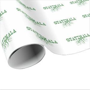 Guatemala Roots Word Art Wrapping Paper