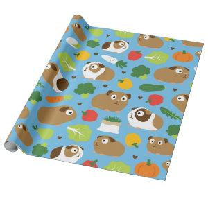 Guinea Pigs And Their Treats Wrapping Paper
