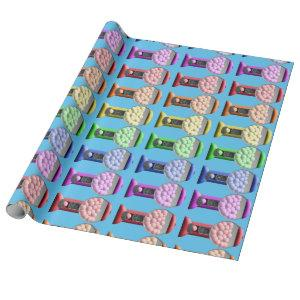 Gumball Machines Candy Rainbow Pattern Wrapping Paper