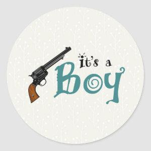 Guns or Roses Gender Reveal Sticker It's a Boy