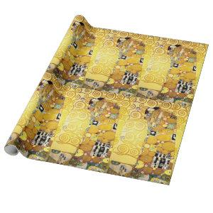 Gustav Klimt Fulfillment Lovers Fine Art Wrapping Paper