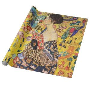 Gustav Klimt Lady With Fan Wrapping Paper