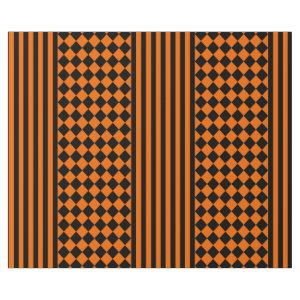 Halloween Black and Orange mix pattern Wrapping Paper