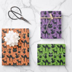Halloween Black Cat Wrapping Paper