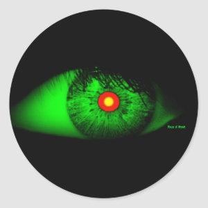 Halloween Cool and Creepy Eye of Witch Classic Round Sticker