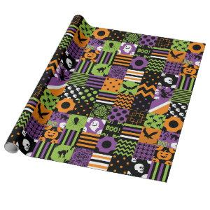 "Halloween Matte Patchwork Wrapping Paper, 30"" x 6' Wrapping Paper"