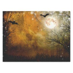 Halloween Moon Haunted Forest Tissue Paper