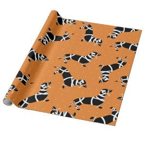 Halloween Mummy Dachshunds Wrapping Paper