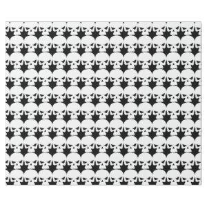 Halloween Party Scary Creepy White Skull Wrapping Paper