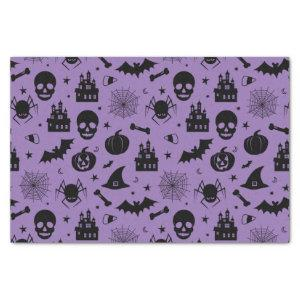 Halloween Pattern Purple and Black Tissue Paper