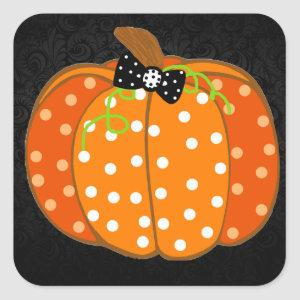 Halloween Pumpkin Square Sticker