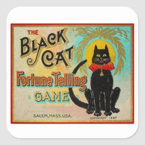 Halloween Retro Vintage Fortune Telling Game Square Sticker