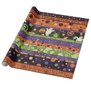 Halloween Trick or Treat Wrapping Paper Gift Wrap