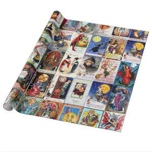 Halloween Vintage Postcard Wrapping Paper