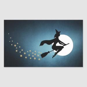 Halloween - Witch Rectangular Sticker