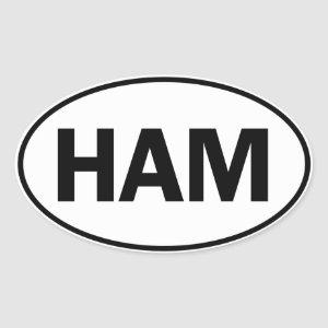 HAM Oval Identity Sign Oval Sticker