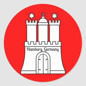 Hamburg, Germany flag Classic Round Sticker