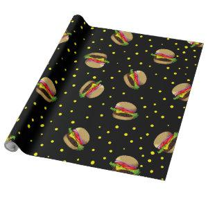 hamburger pattern wrapping paper