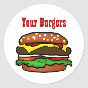 Hamburger Sticker