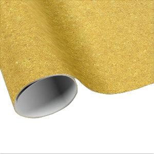 Hammered Gold Wrapping Paper