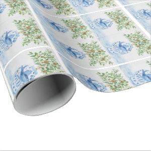 Hand Painted Blue and White Ginger Jar Wrapping Paper