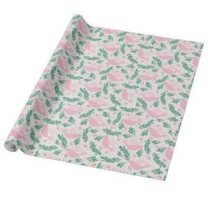 Handmade Christmas Dove of Peace Olive Branch Wrapping Paper