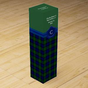 Handsome Black Watch Plaid Custom Wine Box