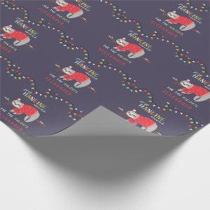Hanging around sloth fun Holiday Wrapping Paper