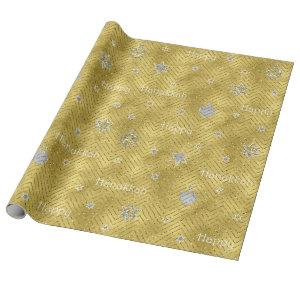 """Hanukkah Wrapping Paper """"Glitzy Bling"""""""
