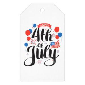 Happy 4th of July Gift Tags