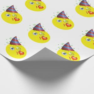 Happy Birthday Emoji Wrapping Paper