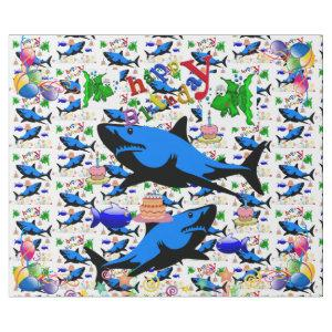 Happy Birthday Gift Wrapping Paper Shark