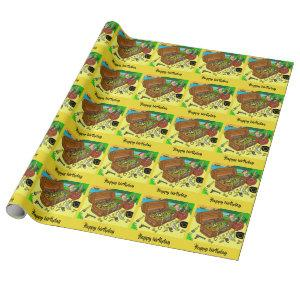Happy birthday #pirate wrapping paper