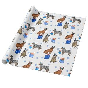 Happy Chanukkah dogs Wrapping Paper