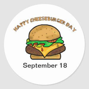 Happy Cheeseburger Day Stickers