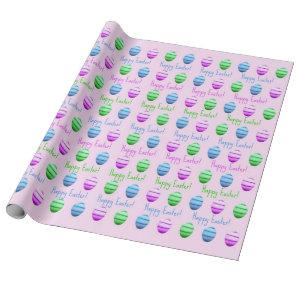 Happy Easter Eggs Wrapping Paper