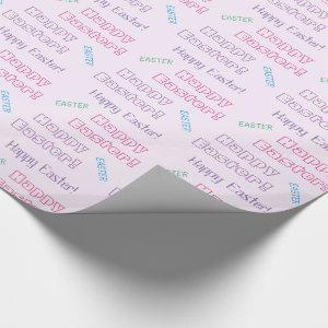Happy Easter! Pastel Easter Themed Typography Wrapping Paper